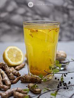 Napar z kurkumą na DETOX - Ale Babka! i robi to co lubi:) Mushroom Tea, Alcoholic Drinks, Beverages, Coffee Drinks, Healthy Drinks, Superfood, Smoothies, Ale, Herbalism
