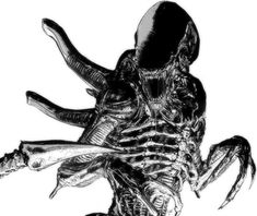"""I think a multiplayer """"Alien"""" game that plays like *Friday the or *Dead by Daylight* would be epic. Giger Art, Hr Giger, Alien Vs Predator, Alien Creatures, Fantasy Creatures, Alien Games, Giger Alien, Alien Covenant, Illegal Aliens"""