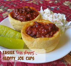 Sloppy Joe Cups - Joyful Homemaking