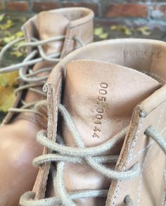 All our boots are numbered by hand which makes them all special and unique.  #buttsandshoulders #natural #naturalleather #leather #boots #mens #menboots #goodyearwelted #aged #ageing #handmade #portugal #leatherproducts #handmadeproducts #vegetabletanned #vegetable #tanned #jeans #denim #denimboots