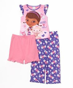 Take a look at the Pink Doc Mcstuffins Pajama Set - Girls on #zulily today!