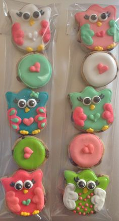 Mini owl cookies at hayleycakes and cookies!
