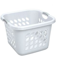 "Amazon.com: STERILITE 12178006 Laundry Basket, 19"", White: Home &... ($16) ❤ liked on Polyvore featuring home, home improvement and storage & organization"