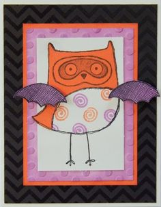 Saving My...: What a Hoot! - August Stamp of the Monoth Blog Hop