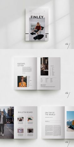 FINLEY Lifestyle Magazine is a minimal, modern template to present your articles. - FINLEY Lifestyle Magazine is a minimal, modern template to present your articles and ideas. Design Visual, Page Layout Design, Graphisches Design, Buch Design, Photo Book Design, Layout Book, Essay Layout, Web Layout, 2020 Design
