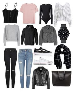 Minimalist Wardrobe by nier-melina on Polyvore featuring polyvore, fashion, style, Vince, Wildfox, Acne Studios, Yeezy by Kanye West, River Island, 2LUV, Alix, Vans, Converse, Warehouse, clothing, Minimalist, woman and minimalistwardrobe