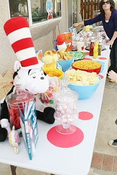 Cat in the Hat Birthday Idea