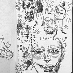 Sick Drawings, Pretty Drawings, Art Drawings Sketches Simple, Arte Grunge, Grunge Art, Art Is Dead, Doddle Art, Gcse Art Sketchbook, Trash Art
