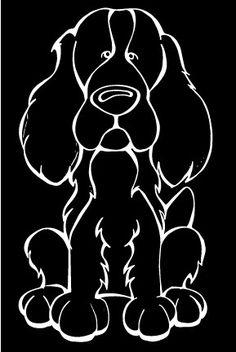 English Springer Spaniel Decal Dog