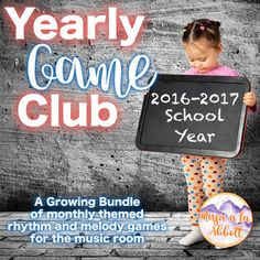 Yearly Game Club for the Music Room, 2016-2017 {A Growing Bundle}