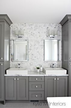 A Marble Inspired Ensuite Bathroom (Budget Friendly too!) Tap the link now to see where the world's leading interior designers purchase their beautifully crafted, hand picked kitchen, bath and bar and prep faucets to outfit their unique designs.