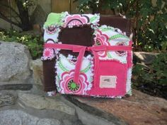 Mod Print Baby Girl Rag Quilt  An Adoption by JJandCompany on Etsy