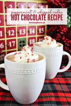 Warm up with this Peppermint & Whipped Vodka Hot Chocolate recipe, a festive holiday cocktail made with @pinnaclevodka  Whipped Vodka, crushed peppermint, and a delicious homemade hot chocolate. sponsored by #PinnacleVodka #PinnacleCocktailClub
