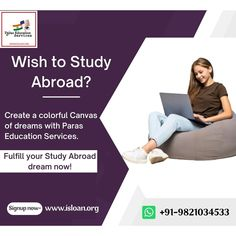 Fulfil your dream of studying abroad with the guidance of Paras Education Services. Visit our website and get yourself Registered. Call us today on – +91-9821034533 / +91-9323249048 website – www.isloan.org Email – info@isloan.org Study Abroad, Studying, Wish, Dreaming Of You, Education, Website, Onderwijs, Study, Learning