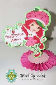 Hey, I found this really awesome Etsy listing at https://www.etsy.com/listing/107060817/strawberry-shortcake-centerpiece