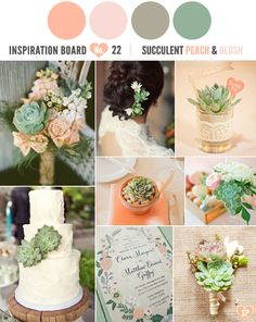 Love the idea of succulents and color scheme