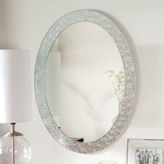 Décor Wonderland Frameless Crystal Wall Mirror - 23.5W x 31.5H in.
