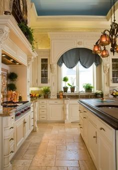Peonies and Orange Blossoms: Wonderful White Kitchens