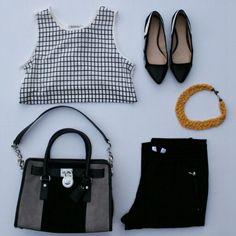 Black and white outfit  runwayteacher.com