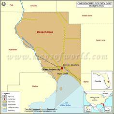 Okeechobee County Map