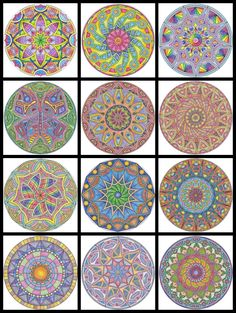 what madeleine loves: Coloring Mandalas