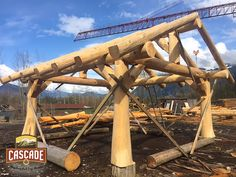We just built this #Gazebo for a customer we're going to build a log home for this summer in #Idaho! The stunning Western Red Cedar project is an 18 ft x 18ft centre to centre of posts. Makes for a great carport or covered BBQ area... nice stone bar would look awesome!