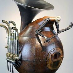 Antique Steampunk Style Greg Brotherton's Sculptures
