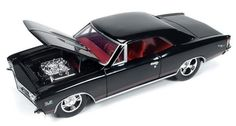 1967 Chevrolet Chevelle SS in Tuxedo Black Diecast car by Autoworld  24006 1/24