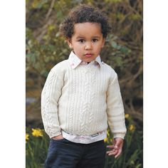 A cable sweater is a classic for all ages. This child's cable jumper knitting pattern is designed to fit ages from birth to four years.