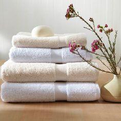 Serviettes en coton biologique commerce équitable 650 g/m² Commerce Équitable, Egyptian Cotton Towels, Luxury Towels, Luxury Bath, Coton Biologique, Fair Trade, Bathroom Accessories, Wedding Gifts, New Homes
