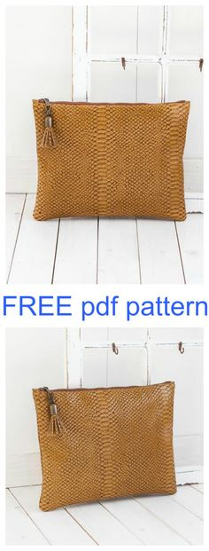 Here's a FREE pdf pattern that will make you a simple Clutch Bag, called the Ciara Clutch. The Ciara Clutch is particularly aimed at the beginner sewer. If you haven't worked with leather yet then this is your chance to start. Ciara has no lining, it has no straps, and therefore for the beginner sewer, there are no tricky parts.