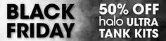 Black Friday Special! TODAY only - Ultra Tank Kit at half price! http://besteliquiduk.co.uk/black-friday-e-liquid-e-cig-sale-massive-discounts/