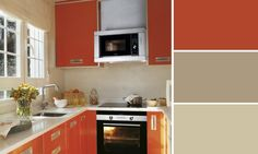 cuisine orange couleurs sable leroy merlin Orange Gris, Decoration, Home Kitchens, Kitchen Cabinets, Inspiration, Design, Assemblage, Leroy Merlin, Home Decor