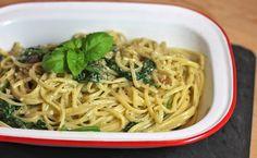 recipe: Spinach Walnut Linguini · riceandbread