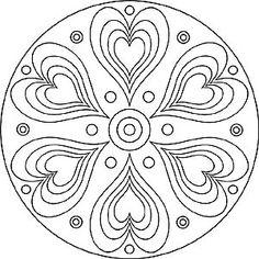Mandalas zum Ausdrucken: Tolle Blumen-Mandala-Vorlage zum