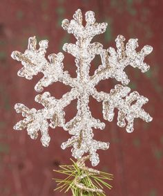 Look at this Snowflake Tree Topper on #zulily today!