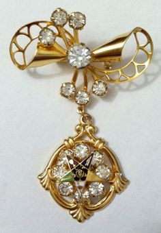 Vintage Eastern Star Masonic Pin Brooch