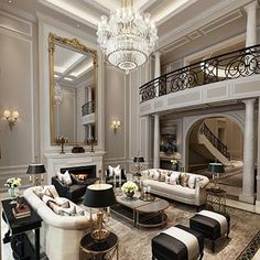 38 The Best Relaxing Living Room Design Ideas Mansion Interior, Luxury Homes Interior, Luxury Home Decor, Living Room Interior, Home Interior Design, Modern Interior, Living Rooms, Dream Home Design, Luxury Furniture
