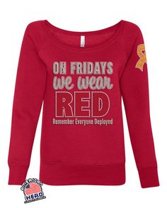 RED FRIDAY high quality bling / glitter by American Hero Clothing