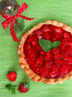 Strawberry Cream Pie...I need to make one of these very soon.