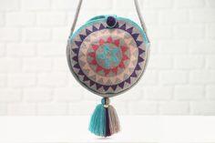 Campora G Round Bag Tassel Necklace, Pendant Necklace, Cool Undertones, Round Bag, Bellisima, Dream Catcher, Shoulder Strap, Shoe Bag, Bags