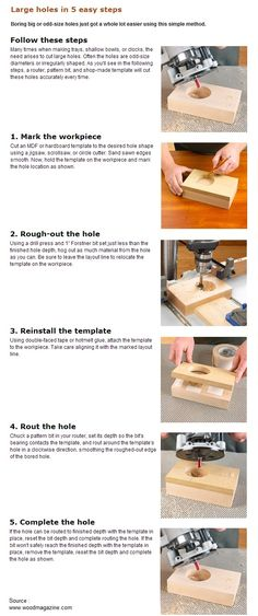 Large holes in 5 easy steps | WoodworkerZ.com