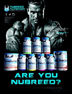 Are You Nubreed? Lee Priest is! Check out this exclusive line of Nubreed Supplements available at FitnessONE.com