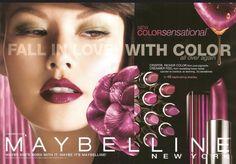 ColorSensational Lip Print Ad - Spread 2009