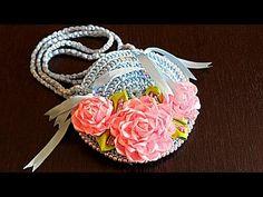 СУМКА ИЗ АТЛАСНЫХ ЛЕНТ | РОЗА ИЗ ЛЕНТ | Bag Crochet DIY - YouTube