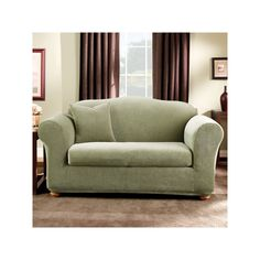 Sure Fit Striped Loveseat Slipcover, Green