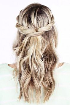 Braided pulled back hair