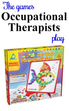 An activity kids love! Address fine motor and visual perceptual skills. For ideas on adapting this game, follow the link to The Playful Otter (OTR).