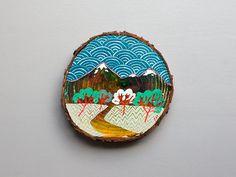 Mini painting on cedar, no. 12
