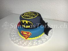 (Bild) Batman vs. Supermann Torte
